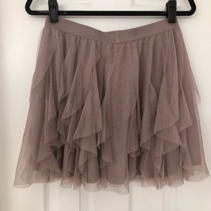 LC Lauren Conrad Mauve Tulle Skirt- Size Medium